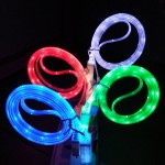Flashing LED Φωτιζόμενο Καλώδιο Φόρτισης & Data USB σε MicroUSB