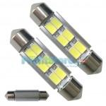 LED Αυτοκινήτου Σωληνωτό Festoon C5W 39mm 6x SMD 5730 CAN BUS - 2 τεμάχια