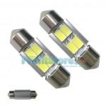 LED Αυτοκινήτου Σωληνωτό Festoon C5W 31mm 4x SMD 5730 CAN BUS - 2 τεμάχια