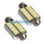 LED Αυτοκινήτου Σωληνωτό Festoon C5W 42mm 8x SMD 5050 CAN BUS - 2 τεμάχια