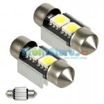 LED Αυτοκινήτου Σωληνωτό Festoon C5W 31mm 2x SMD 5050 CAN BUS - 2 τεμάχια