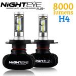 LED Φώτα Αυτοκινήτου με Κάτοπτρο NightEye Plus+ Διπλής Σκάλας H4 6000K 8000LM (2x4000) 50W (2x25W) CAN BUS