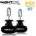 LED Φώτα Αυτοκινήτου NightEye ECO H7 6000K 8000LM (2x4000) 50W (2x25W) CAN BUS