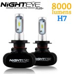 LED Φώτα Αυτοκινήτου NightEye Plus+ H7 6000K 8000LM (2x4000) 50W (2x25W) CAN BUS