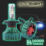 LED Φώτα Αυτοκινήτου NovSight N8 H4 6500K 16000LM (2x8000) 60W (2x30W) CAN BUS