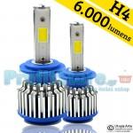 LED Φώτα Αυτοκινήτου H4 6000K 6000LM (2x3000) 60W (2x30W) CAN BUS 12-24V