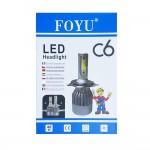 LED Φώτα Αυτοκινήτου Η7 6000Κ C6 40W 3800LM CAN BUS FOYU
