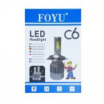 LED Φώτα Αυτοκινήτου Η3 6000Κ C6 40W 3800LM CAN BUS FOYU