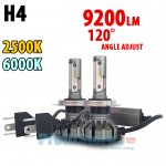 LED Φώτα Αυτοκινήτου H4 White 6500k & Yellow 2500k, 120ᵒ Angle Adjust, 9200LM (2x4600), 50W (2x25W) CAN BUS 12V