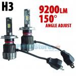LED Φώτα Αυτοκινήτου H3 150ᵒ Angle Adjust 9200LM (2x4600) 70W (2x35W) CAN BUS 9-24V