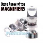 LED Φώτα Αυτοκινήτου H4 Magnifiers 12000LM (2x6000) 70W (2x35W) με Μεγεθυντικό Φακό CAN BUS 9-32V