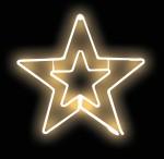 LED Διπλός Φωτοσωλήνας Χριστουγεννιάτικο Αστέρι με 8 Προγράμματα - Christmas Star Light Tube