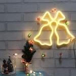 LED Χριστουγεννιάτικος Φωτοσωλήνας Θερμός Κίτρινος Φωτισμός - Καμπάνες - Christmas Bell Light