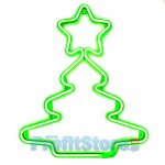 LED Φωτοσωλήνας Χριστουγεννιάτικο Δέντρο με Αστέρι & Πράσινο Φωτισμό - Christmas Star Light Tube