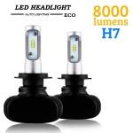 LED Φώτα Αυτοκινήτου Headlight  ECO H7 6000K 8000LM (2x4000) 50W (2x25W) CAN BUS