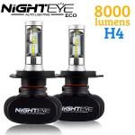 LED Φώτα Αυτοκινήτου με Κάτοπτρο NightEye ECO H4 6500K 8000LM (2x4000) 50W (2x25W) CAN BUS - OEM
