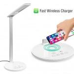 LED Φωτιστικό Αφής - Λάμπα Γραφείου - Ασύρματος Φορτιστής - Desk Lamp with Wireless Charger