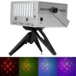 Laser Φωτορυθμικό Πράσινο - Κόκκινο - Πολύχρωμο PAR PIXI Background Projector Auto/Music Show System Stage DJ Green με Μικρόφωνο & Χειριστήριο