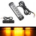 Led Προβολάκι με Κίτρινο Φωτισμό Flash Car Strobe Lights Bar 18W 12V-24V Αυτοκινήτου - Φορτηγού - Emergency Warning Flashing Lamp