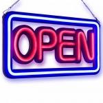 Αδιάβροχη Neon Led Φωτιζόμενη Διαφημιστική Πινακίδα OPEN Retro 50x25 - 220V OEM