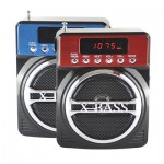 Digital Music Player with USB/SDcard - FM Radio - Clock - Speaker 3W KEMAI MD-99U