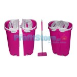 Magic Flat Mop Bucket  Σφουγγαρίστρα με Διπλό Κουβά