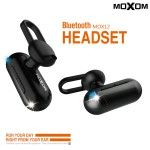 Mini Bluetooth Ασύρματο Ακουστικό HandsFree Multi-Point Moxom Binaural Headset