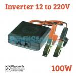Mini Inverter Αυτοκινήτου 100W 12V - 220V με καλώδια HD100 OEM
