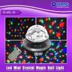 Mini LED Effect Φωτορυθμικό Crystal Ball - USB/SD Mp3 Player & τηλεχειρισμό ME-16