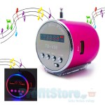 Mini MP3 Player - Fm Radio Aluminum Speaker με Φωτισμό Led.