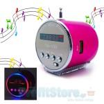 Mini MP3 Player - Fm Radio Aluminum Speaker με Φωτισμό Led.