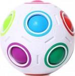 Fidget Anti-Stress Ball - Αγχολυτικό Παιχνίδι - Mini Magic Rainbow Ball Football Λευκό