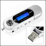 Mini Portable Mp3 Player microSD, LCD screen, FM Radio, USB Stick 4GB