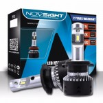 Mini Size LED Φώτα Αυτοκινήτου NovSight H7 6500K 10000LM (2x5000) 70W (2x35W) CAN BUS - Λαμπτήρες Πορείας Υψηλής Φωτεινότητας