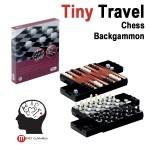 Mini Μαγνητικό τάβλι - σκάκι - ντάμα ταξιδιού
