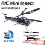 Mini Τηλεκατευθυνόμενο Ελικόπτερο Έντομο 3D GYRO με Ηλ/κο γυροσκόπιο για σταθερές πτήσεις