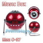 Mini Φορητό Ηχείο USB/SD Player Multimedia Speaker - FM Radio Music Box C-37