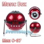 Mini Φορητό Ηχείο USB/SD Player Multimedia Speaker - FM Radio Music Box C-37