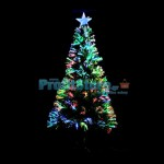 Mini Εντυπωσιακό Χριστουγεννιάτικο Δέντρο Οπτικής ίνας Green LED 60εκ.