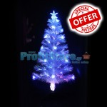 Mini Εντυπωσιακό Χριστουγεννιάτικο Λευκό Δέντρο Οπτικής ίνας White LED 60εκ.