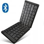 Mini Αναδιπλούμενο Ασύρματο Πληκτρολόγιο Τσέπης Foldable Bluetooth Keyboard iOs, Android, Windows USB με Μαγνητικό Κλείδωμα