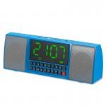 Multimedia Ασύρματο Ηχείο Bluetooth με Ρολόι Ξυπνητήρι, USB/SD/FM & Hands-Free