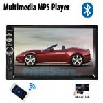 """Multimedia Ηχοσύστημα - Ενισχυτής με Οθόνη Αφής 7"""" 2 DIN TFT Bluetooth Handsfree Αυτοκινήτου MP5, MP3, USB, SD, FM, AUX, TV με Τηλεχειριστήριο 4x45W"""