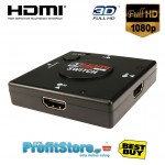 NEWLINK 3-1 HDMI Auto Switch v1.3b - 1080p - 3D Ready PC/MAC/PS3
