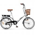 Nilox Electric Bike J1 20'' White - Οικολογικό Μοντέρνο Ηλεκτρικό Ποδήλατο Άσπρο