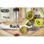 Pop-Up Spice Rack - 6 Δοχεία και ένα Δέντρο Αποθήκευσης για Φρέσκα Μπαχαρικά