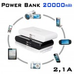 Power Bank 2,1A - Μπαταρία Γίγας 20.000mAh για Κινητά, Gps, Κάμερες & Tablet
