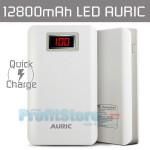 Power Bank Rapid Charger - Μπαταρία Φορτιστής 12.800mAh - 2,1A με Οθόνη LED AURIC-028