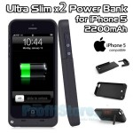 Power Bank 2200mAh - Ultra Slim Θήκη με Ισχυρή Μπαταρία για iPhone 5