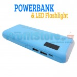 Powerbank USB Μπαταρία & LED Φακός / Φωτιστικό - Φορτιστής Κινητών 2.0A - PBOX-10000